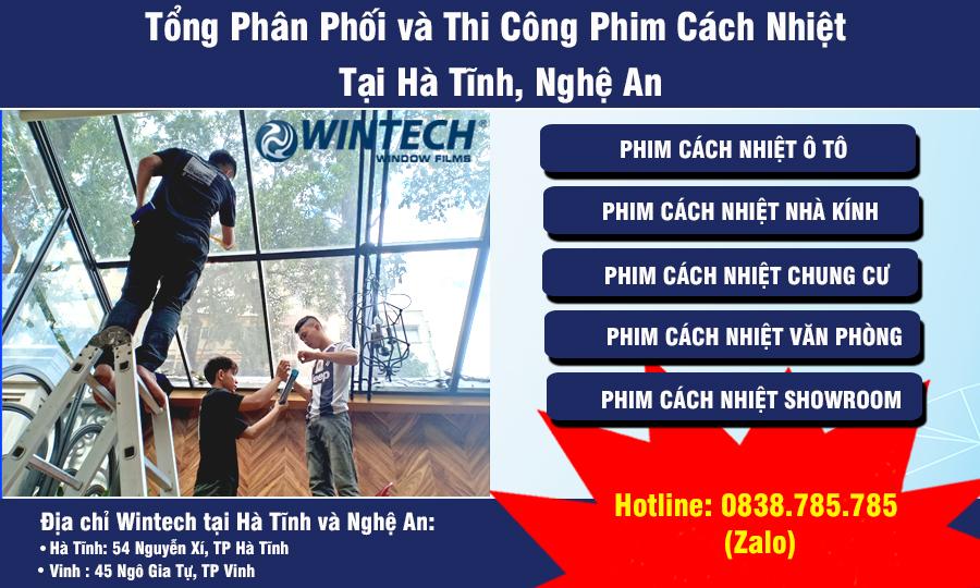 Thi công phim cách nhiệt tại Hà Tĩnh, Nghệ An