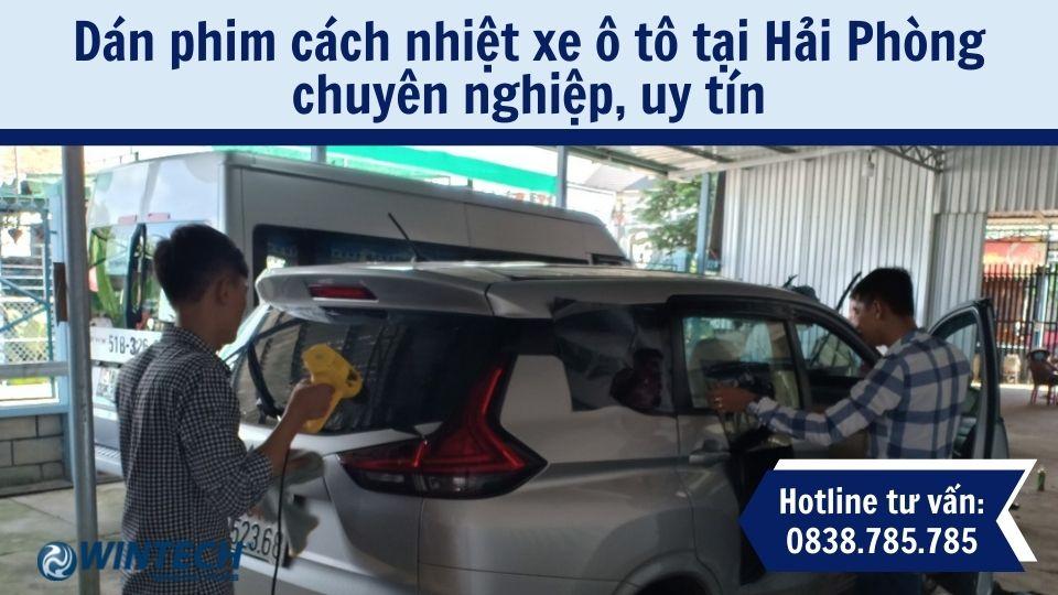 dán phim cách nhiệt xe ô tô tại Hải Phòng