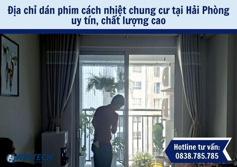 dán phim cách nhiệt chung cư tại Hải Phòng
