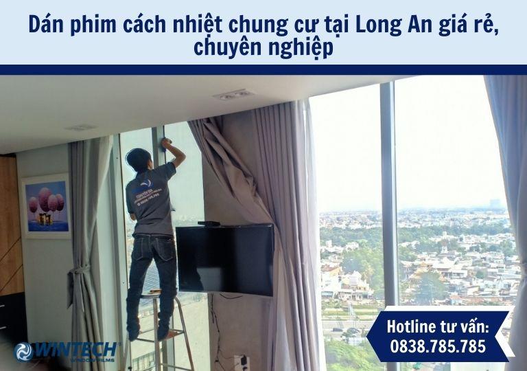 Dán phim cách nhiệt chung cư tại Long An