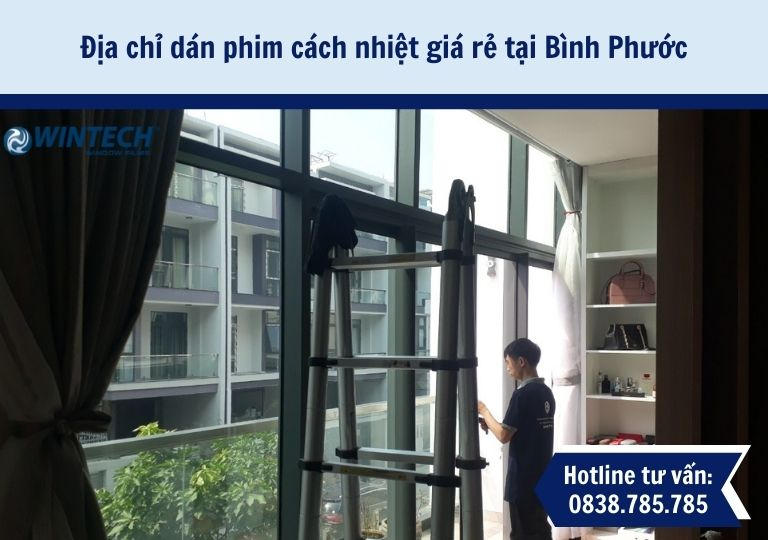 dán phim cách nhiệt giá rẻ tại Bình Phước
